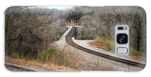 Train Tracks Across The New River - Radford Virginia Galaxy Case