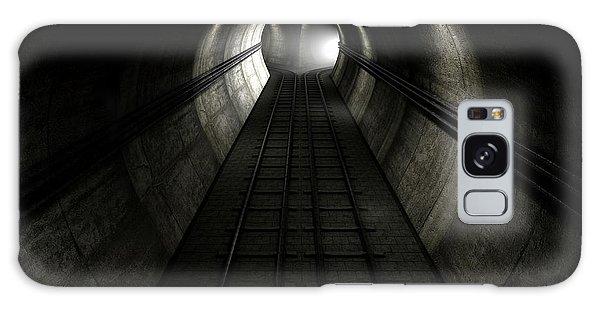 Bricks Galaxy Case - Train Tracks And Approaching Train by Allan Swart