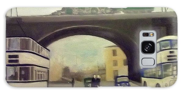 1950s Tram, Locomotive, Bus And Cars In Sheffield  Galaxy Case