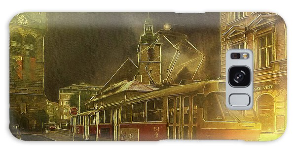 Tramatic - Prague Street Scene Galaxy Case