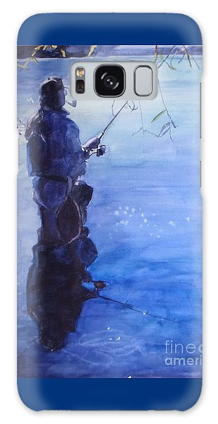 Watercolor Tranquil Fishing Galaxy Case