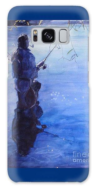 Tranquil Fishing Galaxy Case by Greta Corens