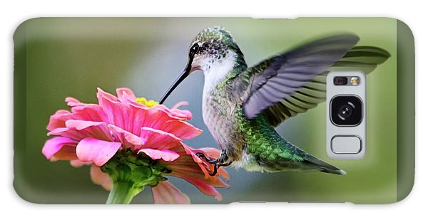 Tranquil Joy Hummingbird Square Galaxy Case by Christina Rollo