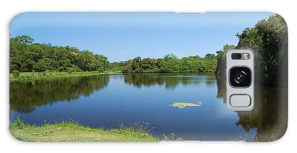 Galaxy Case featuring the photograph Tranquil Lake by Gary Wonning