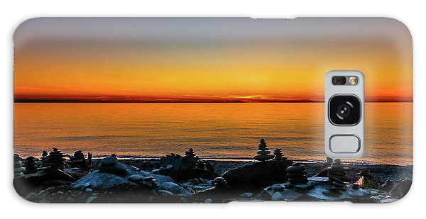 Cabot Trail Galaxy Case - Tranquil Sunset by Claudia M Photography