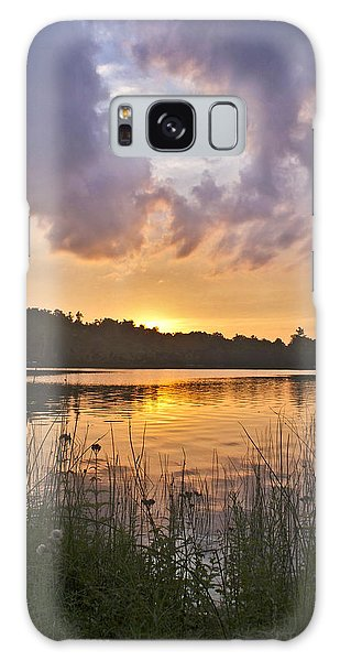 Tranquil Sunset On The Lake Galaxy Case