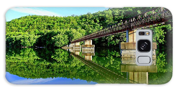 Tranquility At The James River Footbridge Galaxy Case