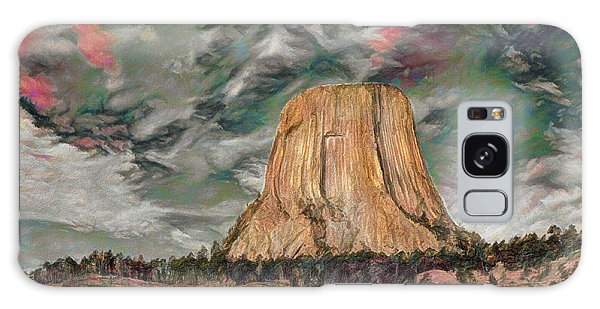 Transcendental Devils Tower Galaxy Case