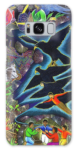 Galaxy Case featuring the painting Transformacion Del Chaman En Aguila  by Pablo Amaringo