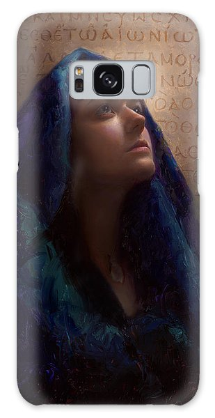 Transformation - Woman With Romans 12 2 Written In Original Greek  Galaxy Case