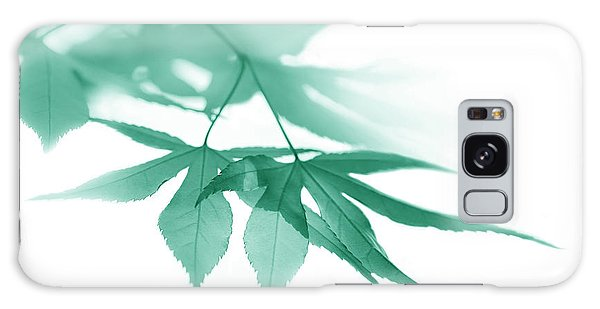 Galaxy Case featuring the photograph Translucent Teal Leaves by Jennie Marie Schell