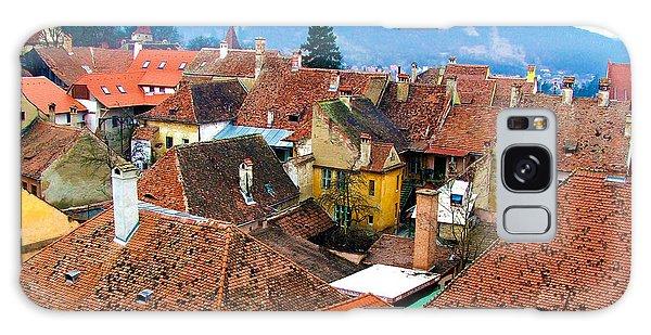Transylvania Rooftops Galaxy Case