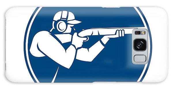 Sportsman Galaxy Case - Trap Shooting Shotgun Circle Icon by Aloysius Patrimonio