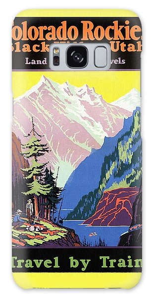 Travel By Train To Colorado Rockies - Vintage Poster Restored Galaxy Case
