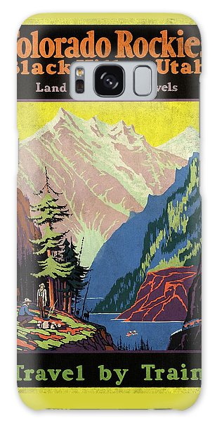 Travel By Train To Colorado Rockies - Vintage Poster Vintagelized Galaxy Case