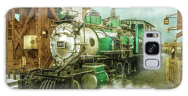 Traveling By Train Galaxy Case by Claudia Ellis