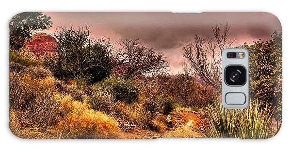 Traveling The Trail At Red Rocks Canyon Galaxy Case