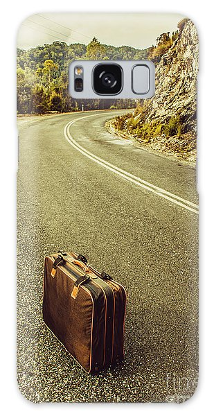 Old Road Galaxy Case - Travelling Brief by Jorgo Photography - Wall Art Gallery