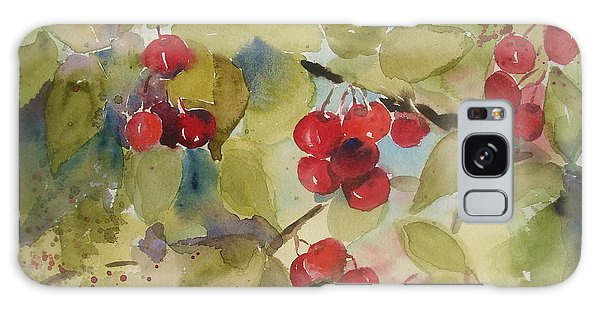 Traverse City Cherries Galaxy Case