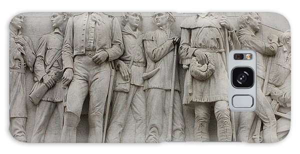 Travis And Crockett On Alamo Monument Galaxy Case