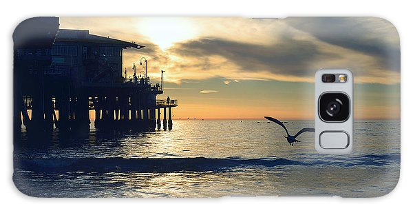 Seagull Pier Sunrise Seascape C1 Galaxy Case