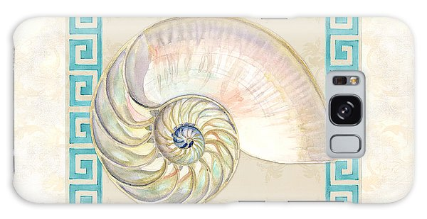 Iridescent Galaxy Case - Treasures From The Sea - Nautilus Shell Interior by Audrey Jeanne Roberts
