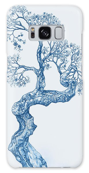 Tree 14 Blue 1 Galaxy Case