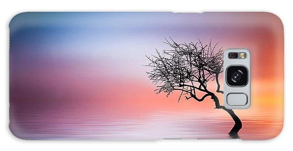 Tree At Lake Galaxy Case