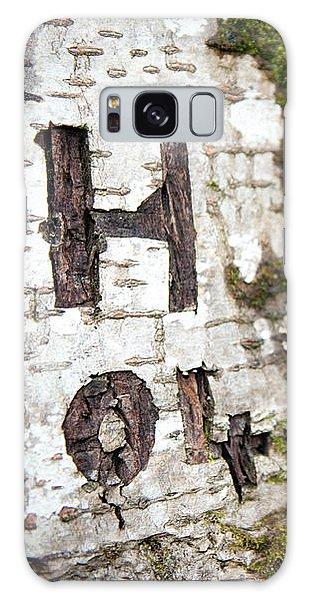 Tree Bark Graffiti - H 04 Galaxy Case
