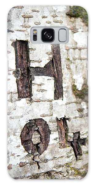 Tree Bark Graffiti - H 04 Galaxy Case