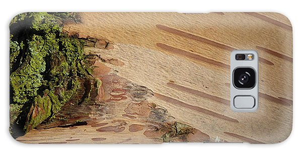Tree Bark With Lichen Galaxy Case by Margaret Brooks