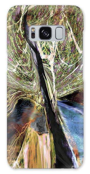 Tree Bent By Wind Galaxy Case