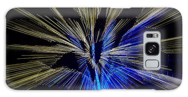 Tree Burst Of Blue And Yellow Galaxy Case