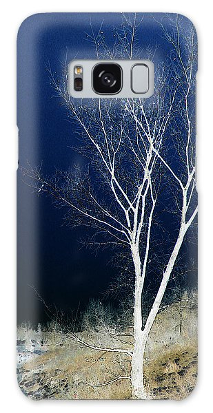 Tree By Stream Galaxy Case by Stuart Turnbull