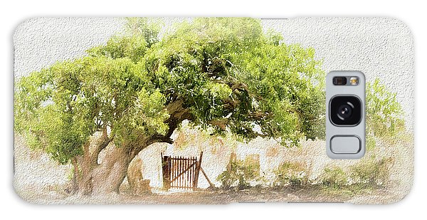 Tree By The Gate Galaxy Case