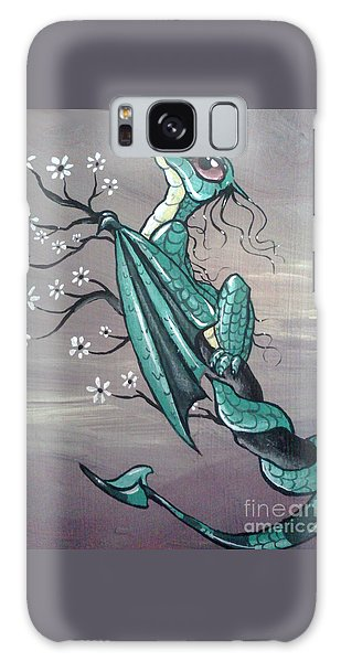 Galaxy Case featuring the painting Tree Dragon II by Mary Hoy