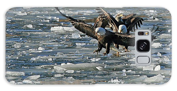 Tree Eagles On Ice Galaxy Case