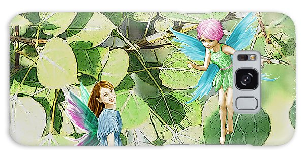 Tree Fairies Among The Quaking Aspen Leaves Galaxy Case