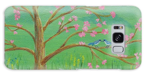 Galaxy Case featuring the painting Tree For Two by Nancy Nale