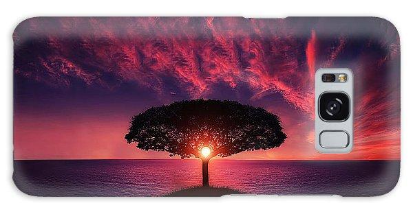 Tree In Sunset Galaxy Case