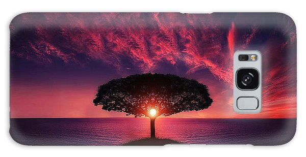 Tree In Sunset Galaxy Case