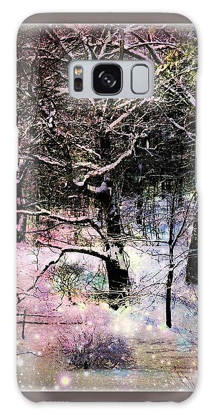 Tree In Winter Galaxy Case by Robin Regan