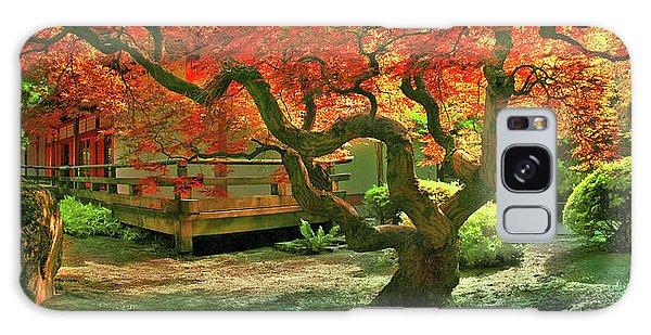 Tree, Japanese Garden Galaxy Case