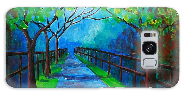 Tree Lined Fence Galaxy Case