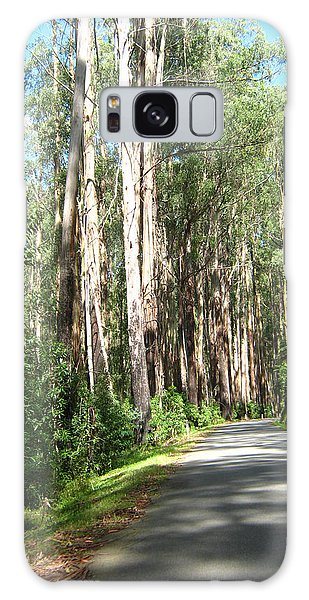Tree Lined Mountain Road Galaxy Case