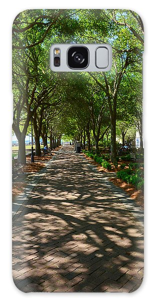 Tree Lined Path Galaxy Case