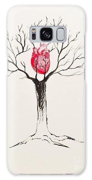 Tree Of Hearts Galaxy Case by Stefanie Forck