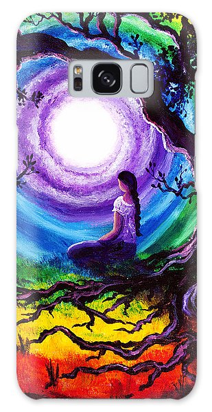 Tree Of Life Meditation Galaxy Case by Laura Iverson