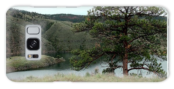 Tree On Missouri River Bluff Galaxy Case