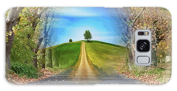 Tree On The Hill Montage Galaxy Case